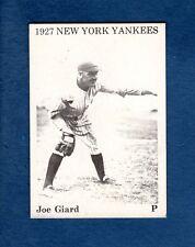 JOE GIARD, 1927 New York Yankees (@1975 TCMA) 39-year-old commemorative card
