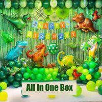 89Stück/Set Dinosaurier Thema ziehen Flagge Ballon Kinder Geburtstagsfeier Dekor