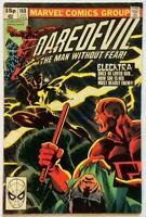 Daredevil #168. KEY Bronze Age issue. 1st Appearance Elecktra Marvel 1981.