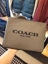 COACH Large Pouch iPad Case Multifunctional Cutout New York Leather MSRP $198
