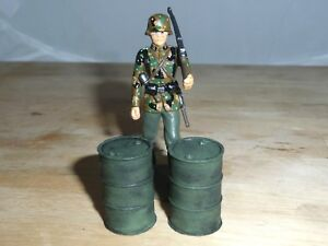 1/32 SCALE SOLID RESIN OIL DRUMS HAND PAINTED FOR MODEL SCENES &DIORAMAS 2 PACK