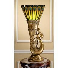 """Art Deco Peacock Sculptural Design Toscano Exclusive 28½"""" High Table Lamp"""
