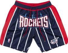 New Houston Rockets Dark Blue Retro Men Basketball Shorts Size:S-XXL