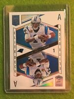 CAM NEWTON PRIZM PANTHERS REFRACTOR Panini 2018 Donruss Elite Deck #ED-13 SP Ace