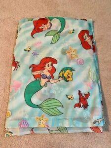 Vintage Disney The Little Mermaid Ariel Twin Flat Bed Sheet
