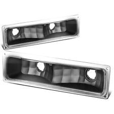 Fit 1994-1999 Chevy/GMC C/K Pickup Truck Front Bumper Light Turn Signal Lamps