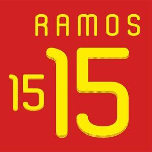 Ramos 15. Spain Home football shirt 2010 - 2011 FLEX NAMESET NAME SET PRINT