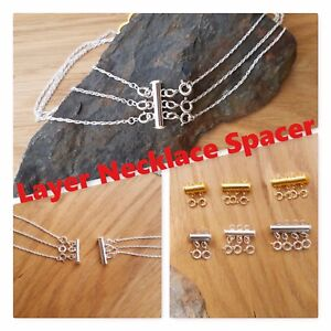 Layer Necklace Spacer Clasp Fastener, No More Tangled Layered Chains Silver Gold