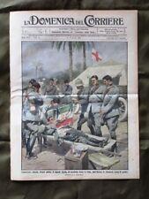 La Domenica del Corriere 2 Agosto 1914 Ferito Libia Processo Caillaux Poincarè