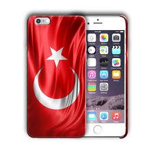Turkey Flag Iphone 4 4s 5 5s 5c SE 6 6s 7 + Plus Case Cover 01