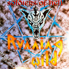 """RUNNING WILD - SOLDIERS OF HELL - LTD. + NUMBERED BLACK VINYL 7"""" , TO 300 COPIES"""