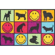 Fu/ßabstreifer Hundeliebe mit Hunde Motiv ca 50x75cm Dogs in Love wash+dry Waschbare Fussmatte