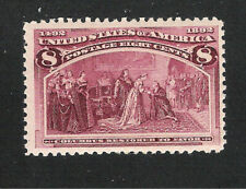 U.S. Scott 236 Columbian 8 cent magenta MNH stamp.