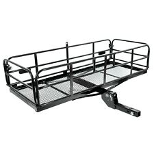 Universal Folding Hitch-Mount Cargo Carrier Mounted Basket Luggage Rack