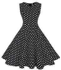 Ärmellose knielange Damenkleider mit Rundhals-Ausschnitt für Business-Anlässe