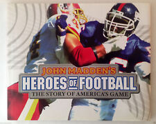 JOHN MADDEN'S HEROES OF FOOTBALL The Story Of Americas Game HCDJ Super Bowl LNew