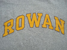 COOL!! 90s vtg ROWAN COLLEGE new jersey T SHIRT rayon GREY T SHIRT usa SMALL
