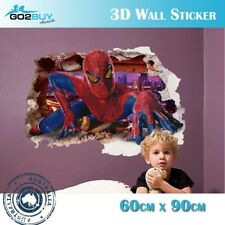3D Wall Stickers Removable The Avengers Spider Man Broken Wall Kid Boy Room B