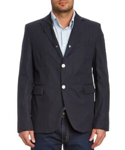 Moncler Gamme Bleu Blazer Jacket Rare White button Giacca  Italy sz 3 Graduation
