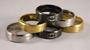 High Quality Batman Ring Band - Titanium Stainless Steel - Retro Cosplay Comic