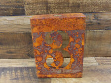 "NUMBER ""3"" RUSTY FINISH 8"" LASER CUT METAL BLOCK NUMBER RUSTIC DECOR SIGN"