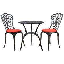 Sets de muebles de jardín de color principal negro de aluminio