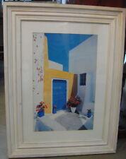 Framed Greek Print Aegean Diary Courtyard 83x63cm Yiorgos Depollas