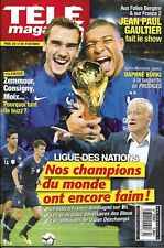 TELE MAGAZINE n°3284 13/10/2018  L'Equipe de France/ Lagaf'/ Gaultier/ Guénaire