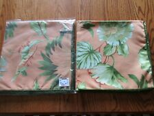 "New listing Gattle's Fine Linens 22"" Floral/Tropical Napkins Set of 8 -New-Orange/Green"