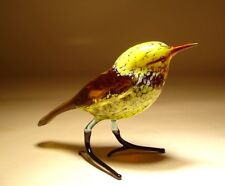 "Blown Glass ""Murano"" Art animal Figurine YELLOW Bird"