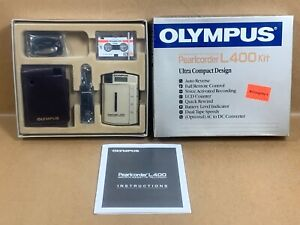 Brand New Old Stock - OLYMPUS Pearlcorder Micro-Cassette Spy Recorder Kit L-400