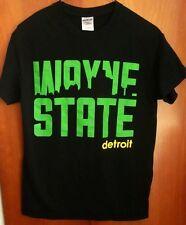 WAYNE STATE UNIVERSITY small T shirt WSU tee Michigan Warriors Detroit skyline