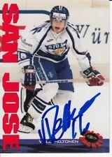 1994 VILLE PELTONEN Suomi Finland Autographed Signed Hockey Classic Card 97