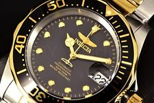 Invicta Pro Diver 40MM Automatic NH35A Exhibition Back Black Dial SS Band Watch