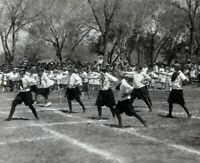 1910 Young School Girls Performing at Festival Uniforms Vintage Photo