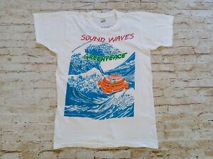 RARE VTG 1986 Greenpeace Single Stitch Double Sided Music Concert Band T-shirt M