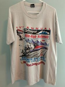 Vintage 1989 Winston Drag Racing Shirt Mile High Nationals XL Screen Stars