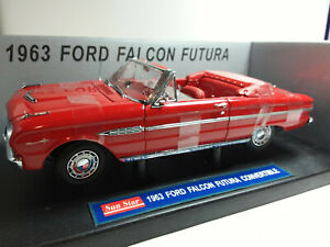 SUNSTAR 1/18 SUPERBE FORD FALCON FUTURA CONVERTIBLE 1963 NEUF EN BOITE ..C4
