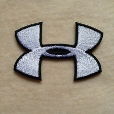 UNDER ARMOUR SPORT LOGO EMBROIDERY IRON ON PATCH BADGE #WHITE