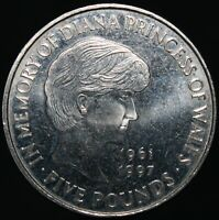 1999 | Elizabeth II 'In Memory Of Diana' Five Pounds | Cupro-Nickel | KM Coins