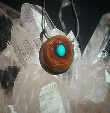 Price drop!!! Pinecone Pendant with resin turquoise ,handcrafted from East Tn