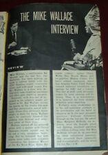 1957 TV GUIDE ARTICLE~MIKE WALLACE~KLU KLUX KLAN IMPERIAL WIZARD ELDON EDWARDS
