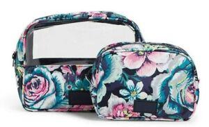 Vera Bradley Reactive Cosmetic set Dream Garden NWT Free shipping U.S.