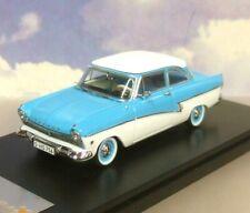 SUPERB IXO/PREMIUM-X 1/43 DIECAST 1957 FORD TAUNUS 17M IN BLUE & WHITE PRD388
