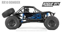 Axial RR10 Bomber Body Graphic Wrap Skin- Flames Blue
