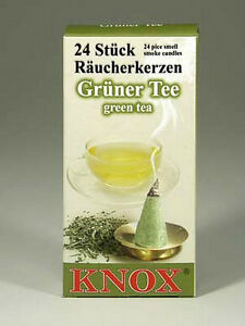 2 x Boxes German Incense GREEN TEA - Smoker Raucherkerzen Smokerman Rauchermann