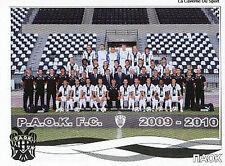 N°270 TEAM PAOK FC STICKER PANINI GREEK GREECE LEAGUE 2010