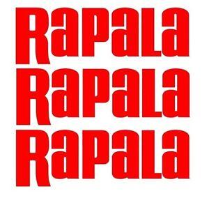Rapala Decals set 3 Bass Catfish Trout Lure Hooks Sticker Swimbait Windshield