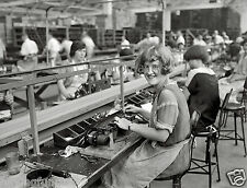 1920s Atwater Kent radio factory assembly line 8 x 10 Photograph