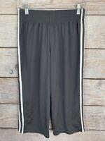 Champion Women's Jersey Athletic Workout Capri Pants Double White Stripe S/P